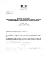 Arrêté Préfectoral – Commission contrôle LE