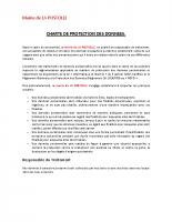 RGPD – Charte