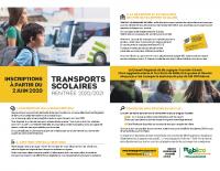 Inscription transports scolaires 2020-2021