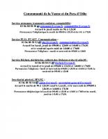 CCVPO – Numéros services